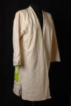 Kaftan van katoenen tricot met applicaties en beschilderd, veelkleurig doorgestikt
