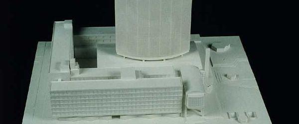 Maquette Beursgebouw en WTC met gedeelte Hoogstraat en Coolsingel