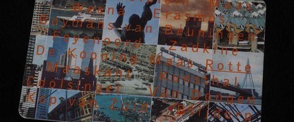 """Telefoonkaart """"Toen wij uit Rotterdam vertrokken"""" met afbeeldingen uit Rotterdam"""