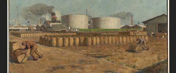 Petroleumopslag Pakhuismeesteren aan de Robbenoordsehaven, Charlois