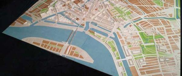 Maquette van de 'papieren stad' (1941-1942) van W.G. Witteveen