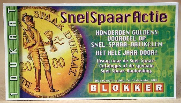 Blokker Dukaat Actie.Collectiestuk 25 Dukaten Van De Blokker Snelspaaractie